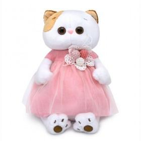 Кошечка Лили в платье с вязаными ягодками