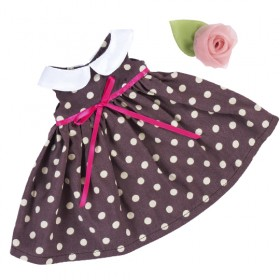 Кофейное платье BudiBasa для Зайки Ми 18 и 25 см