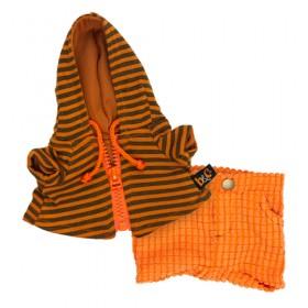 Оранжевые штаны и толстовка с капюшоном BudiBasa для Басика 19 см