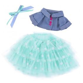 Джинсовая курточка и юбка из сетки для Зайки Ми 18 и 25 см
