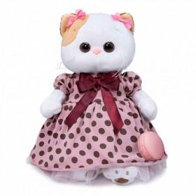 Кошечка Ли-Ли в розовом платье в горох