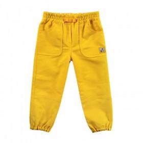 """Брюки джинсовые """"бананы"""" желтые из коллекции """"Nice Day"""" (р-ры: 074,086,092)"""