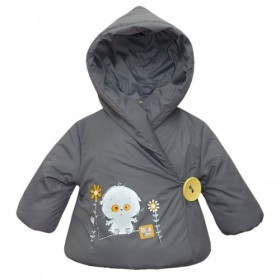 """Курточка для девочки с запахом из коллекции """"My Little Flower"""" (р-ры: 074,080,086,092,098)"""