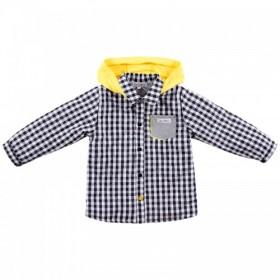"""Рубашка стеганая в клетку из коллекции """"Little Gentleman"""" (р-ры: 074,080,086)"""