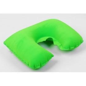 Подушка надувная для путешествий, цвет зеленый