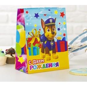 """Щенячий патруль. Пакет подарочный """"Счастливый День Рождения"""""""