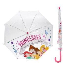 """Зонт детский""""Принцессы Белль, Ариэль, Аврора"""", R=41,5см, прозрачный"""