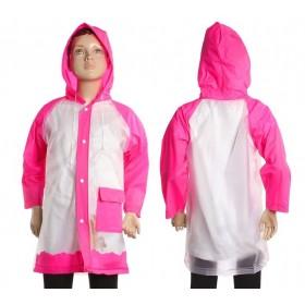 """Дождевик детский """"Гуляем под дождем"""", фуксия, XL 120-130 см"""