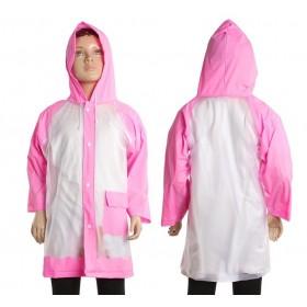 """Дождевик детский """"Гуляем под дождём"""", розовый, L 110-120 см"""