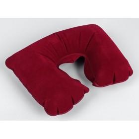 Подушка для шеи дорожная, надувная, цвет бордовый