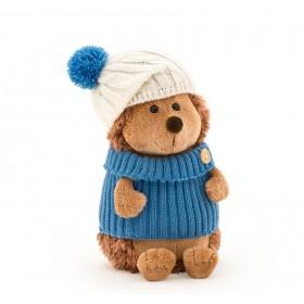 Ежик Колюнчик в шапке с голубым помпоном (в коробке)