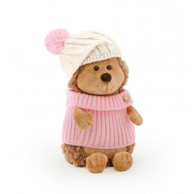 Ежинка Колючка в шапке с розовым помпоном (в коробке)
