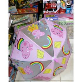 Зонтик детский Пеппа розовый