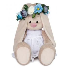 Зайка Ми Большой в белом платье и веночке