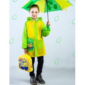 """Дождевик со светоотражающим элементом, детский """"Bananas"""" Гадкий Я , р-р M, рост 100-110 см"""