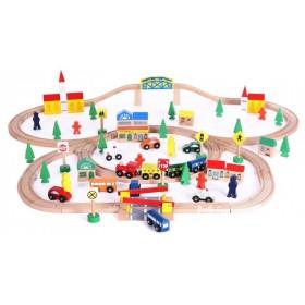 Деревянная железная дорога - 100 предметов