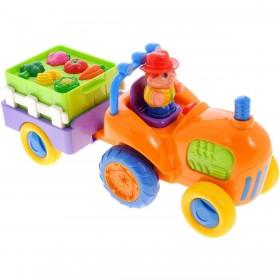 Развивающий игровой Трактор с овощами Kiddieland