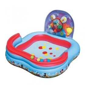 """Бассейн надувной игровой """"Микки Маус"""", 157 х 157 х 91 см, игрушки, 6 шариков, от 3 лет"""