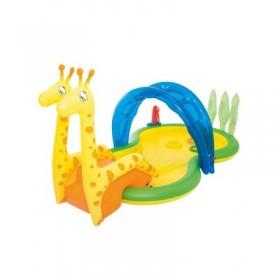 """Бассейн надувной игровой, """"Зоопарк"""", с распылителем, 338 х 167 х 129 см, от 2 лет Bestway"""