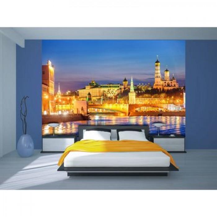 Фотообои К-101 «Ночная Москва» (8 листов), 280 × 200 см