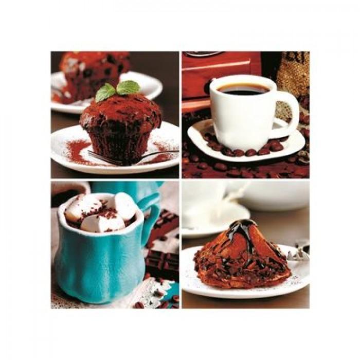 Фотообои самоклеящиеся «Кофейное утро», 2 листа, 100 × 140 см