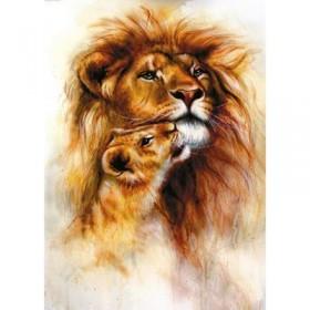 Фотообои самоклеящиеся «Львы», 2 листа, 100 × 140 см