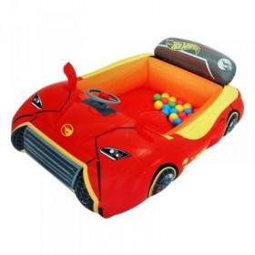 """Игровой центр Hot Wheels """"Машина"""", 135 х 99 х 43 см, 25 шариков, от 2 лет Bestway"""