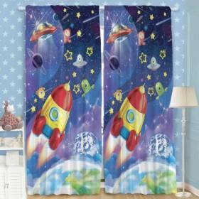 """Комплект штор """"Этель"""" Космос, размер 150х270 см-2 шт., хлопок 198 г/м2"""
