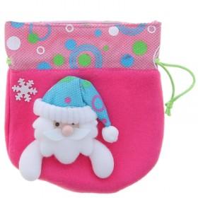 """Мешок для подарка """"Весёлый Дед Мороз"""" (розовый)"""