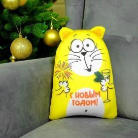 """Мягкая игрушка-антистресс Котэ """"С Новым годом"""""""