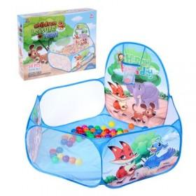 """Палатка детская игровая - сухой бассейн для шариков """"Зверята"""""""