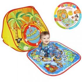 """Палатка-домик """"Остров приключений"""" с игрой-бродилкой + 4 фигурки для игры, игральный кубик"""