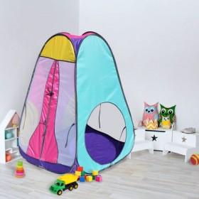"""Палатка конусная """"Радужный домик"""", 4 грани, цв.: фиолетовый/лимон/розовый/бирюза"""
