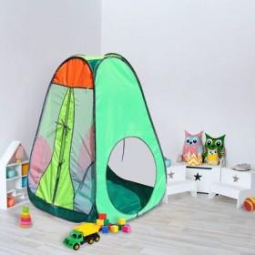 """Палатка конусная """"Радужный домик"""", 4 грани, цв.: зеленый/оранж/лимон/салатовый"""