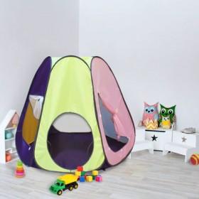 """Палатка конусная """"Радужный домик"""", 6 граней, цв.: фиолетовый/лимон/розовый/салатовый"""