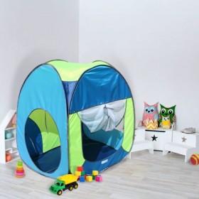 """Палатка квадратная """"Радужный домик"""", 4 грани, цв.:  василек/лимон/голубой"""