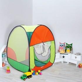 """Палатка квадратная """"Радужный домик"""", 4 грани, цв.: зеленый/оранж/лимон/салатовый"""