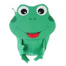 """Рюкзачок детский эргоном.спинка Affenzahn Small Friends 25*17*11 """"Finn Frog"""", зел/сер"""