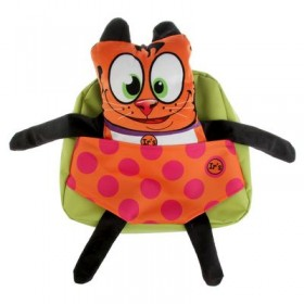 Рюкзачок детский Ir's 27*24*8 «Кот» 313-13-10-5 брелок-игрушка, рыжий кот