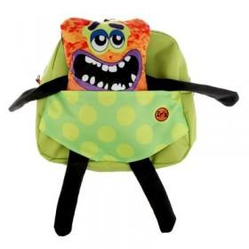 Рюкзачок детский Ir's 27*24*8 «Монстрик» 313-13-10-3 из молнии брелок-игрушка, зелёный
