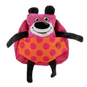 Рюкзачок детский Ir's 27*24*8 «Роберт» 313-13-10-4 брелок-игрушка, розовый
