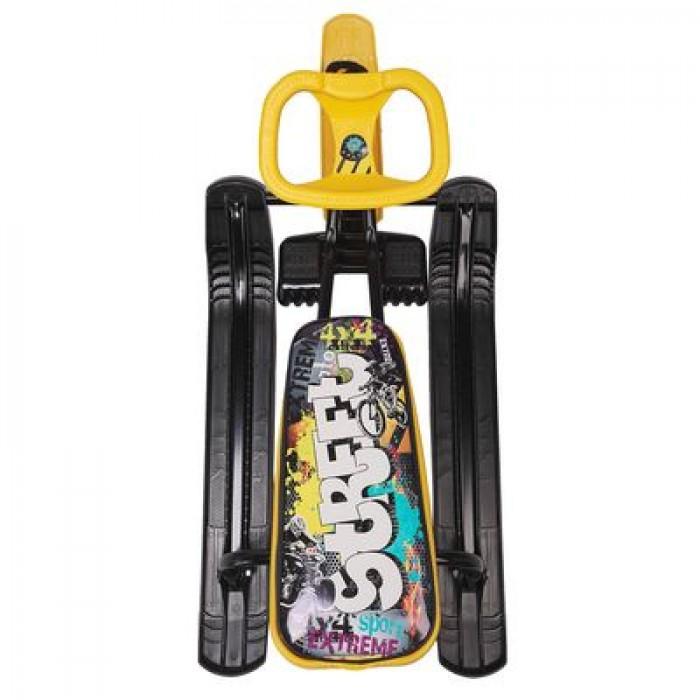 """Снегокат """"Тимка спорт2"""" Граффити желтый (высота 420 мм) ТС2/ГЖ"""