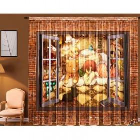"""Тюль """"Окно"""", ширина 145 см, высота 270 см +/-5 см-2 шт."""