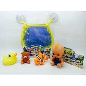 Набор игрушек д/купания с пупсом