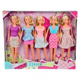 """Куклы Штеффи """"Показ мод"""" (29 см, 5 кукол)"""