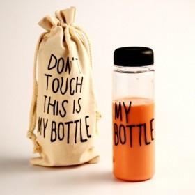 Бутылка My Bottle в льняном мешочке в ассортименте