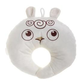 Подушка под шею детская «Овечка», цвет белый