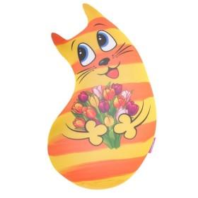 """Мягкая игрушка-антистресс """"Котик"""" цвет желтый, 40 см"""