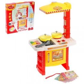"""Игровой набор """"Кухня шеф-повара"""", 7 предметов, световые и звуковые эффекты, работает от батареек, высота 51 см, БОНУС - кулинарная книга"""