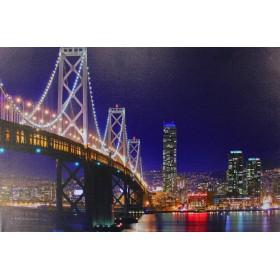 Картина «ОГНИ МЕГАПОЛИСА» LED-8шт, 60х40см